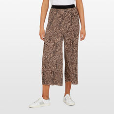 ANIMAL PRINT PLEATED PANT  MULTI  hi-res