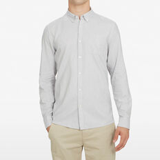LIGHT GREY CUSTOM FIT SHIRT  GREY  hi-res