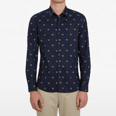 FOX HEAD CUSTOM FIT SHIRT  MARINE BLUE  hi-res