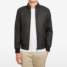 LEATHER LOOK JACKET  BLACK  hi-res