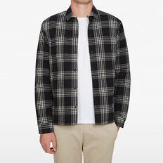 CHECK SHIRT JACKET  BLACK  hi-res