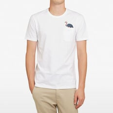 OSTRICH POCKET T-SHIRT  WHITE  hi-res