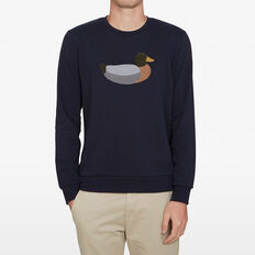 SITTING DUCK SWEAT  MARINE BLUE  hi-res