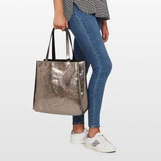 BULLDOG REVERSIBLE TOTE  BLACK/CHARCOAL  hi-res