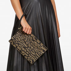ANIMAL BEADED BAG  BLACK/BRONZE  hi-res