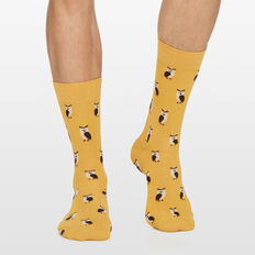 OWL 1PK SOCKS  WASHED GOLD  hi-res