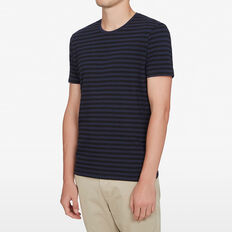 CAM CLASSIC STRIPE T-SHIRT  BLACK/NAVY  hi-res