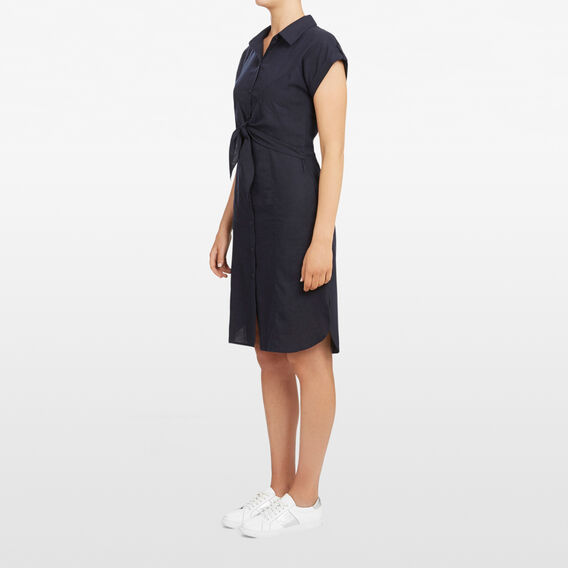 TIE FRONT DRESS  NOCTURNAL  hi-res
