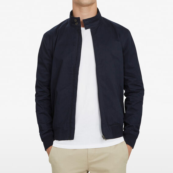 COTTON HARRINGTON JACKET  MARINE BLUE  hi-res