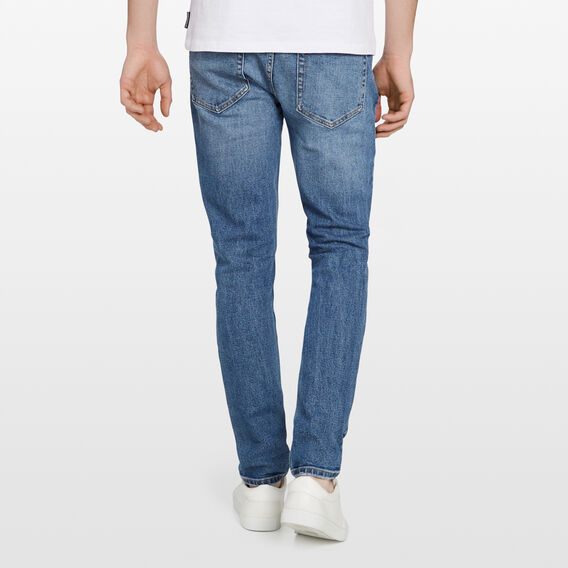 SLIM STRETCH JEAN  MID VINTAGE BLUE  hi-res