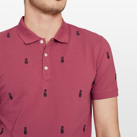 PINEAPPLE EMBROIDERED POLO  MELON  hi-res