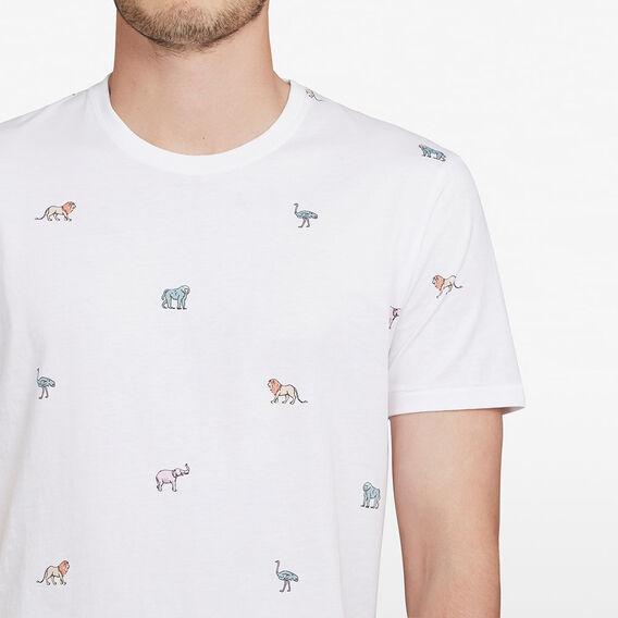 SAFARI ANIMALS T-SHIRT  WHITE  hi-res