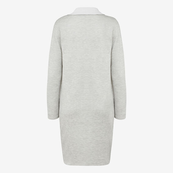 TWO TONE CARDIGAN  GREY MARLE/SUMMER WH  hi-res