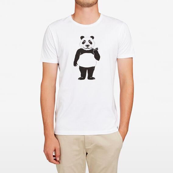 PANDA CREW NECK T-SHIRT  WHITE  hi-res