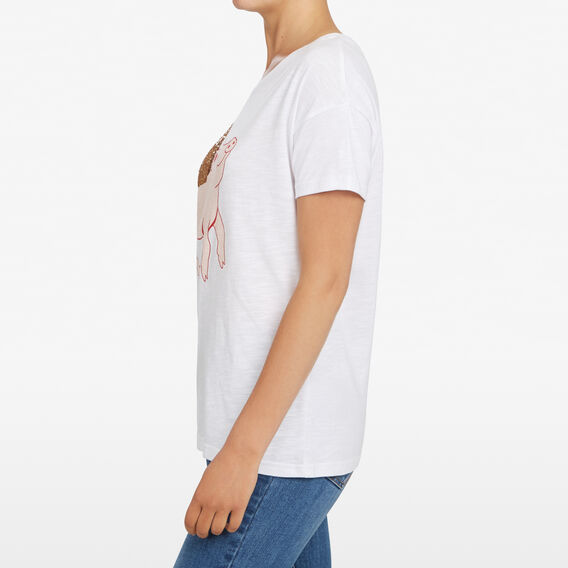 FLYING PIG PLACEMENT TEE  SUMMER WHITE/MULTI  hi-res