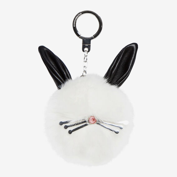 BUNNY KEYRING  WINTER WHITE  hi-res