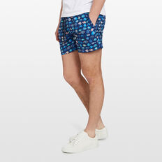 TROPICAL FISH SWIM SHORT  ROYAL BLUE  hi-res