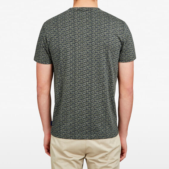 TIGER YARDAGE T-SHIRT  OLIVE  hi-res