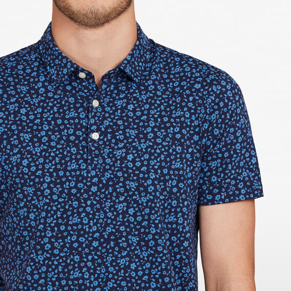 MINI FLORAL POLO  BLUES  hi-res