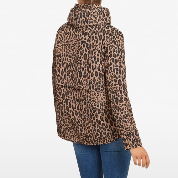 ANIMAL PRINT ANORAK JACKET  MULTI  hi-res