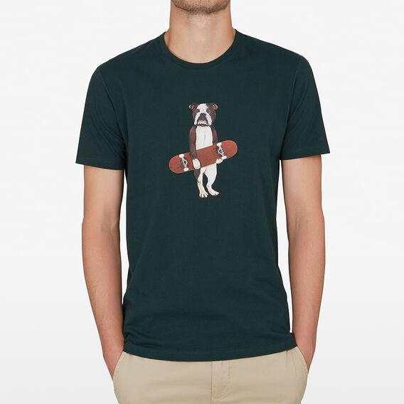 SKATER DOG T-SHIRT  FOREST GREEN  hi-res