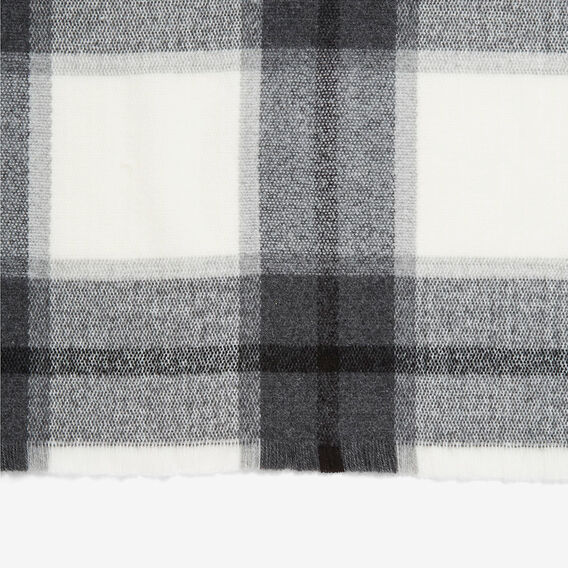 LARGE MONO CHECK SCARF  BLACK/WHITE  hi-res