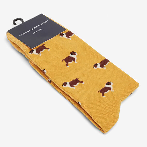 BULLDOG 1PK SOCKS  GOLD  hi-res