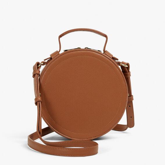 CIRCLE ACROSS BODY BAG  TAN  hi-res