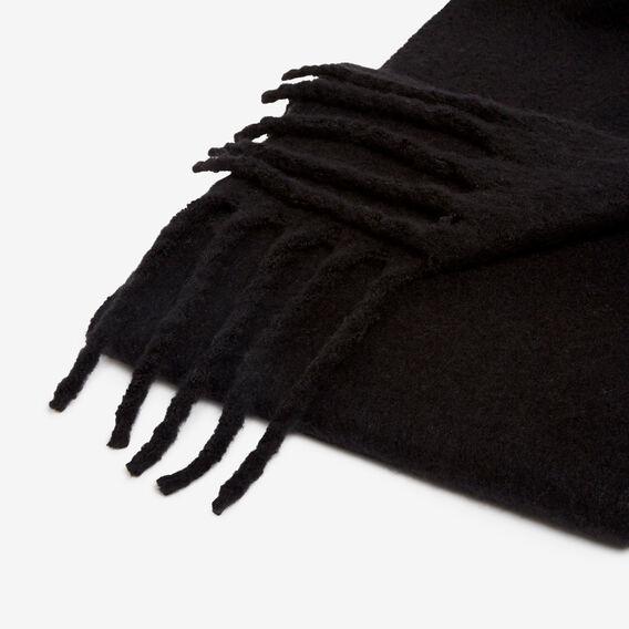 FLUFFY CHUNKY SCARF  BLACK  hi-res