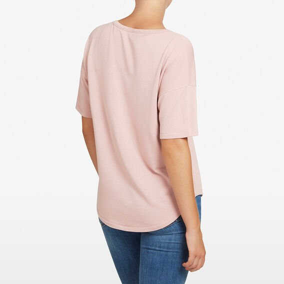V NECK SLOUCHY TEE  DUSTY PINK  hi-res