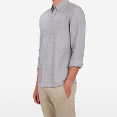 GREY MELANGE SLIM FIT SHIRT  GREY MELANGE  hi-res