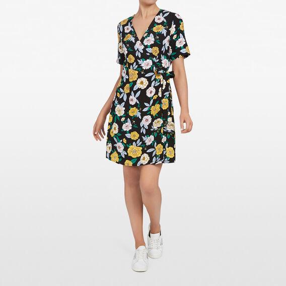 WILD FLOWER WRAP DRESS  MULTI  hi-res