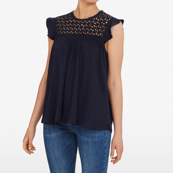 FLOWER LACE TEE  NOCTURNAL  hi-res