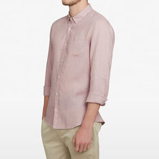 LINEN CLASSIC FIT SHIRT  PALE ORCHID  hi-res