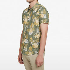 PINEAPPLE LEAF CUSTOM FIT SHIRT  OLIVE/GOLD/WHITE  hi-res