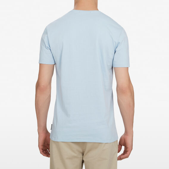 CLASSIC CREW NECK T-SHIRT  SKY BLUE  hi-res