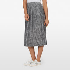 JERSEY PLEATED MIDI SKIRT  GREY MARBLE  hi-res