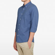 MID BLUE CUSTOM FIT SHIRT  MID BLUE  hi-res