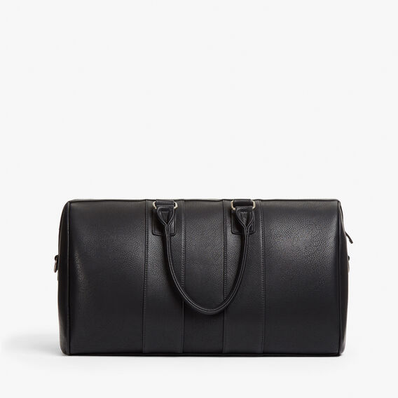 LEATHER LOOK WEEKENDER BAG  BLACK STRIPE  hi-res