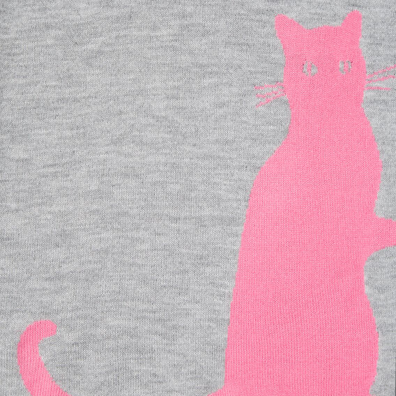 CAT SCARF  GREY MARLE/ORCHID  hi-res