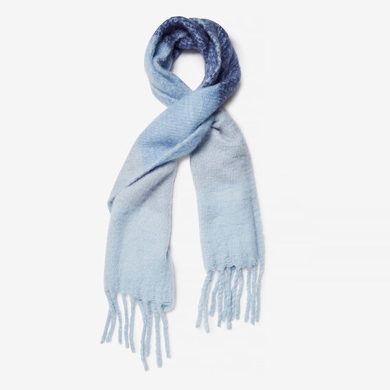 TOUCH OF BLUES SCARF  BLUE MULTI  hi-res