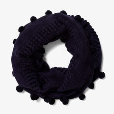 ENDLESS KNITTED SCARF  NAVY  hi-res