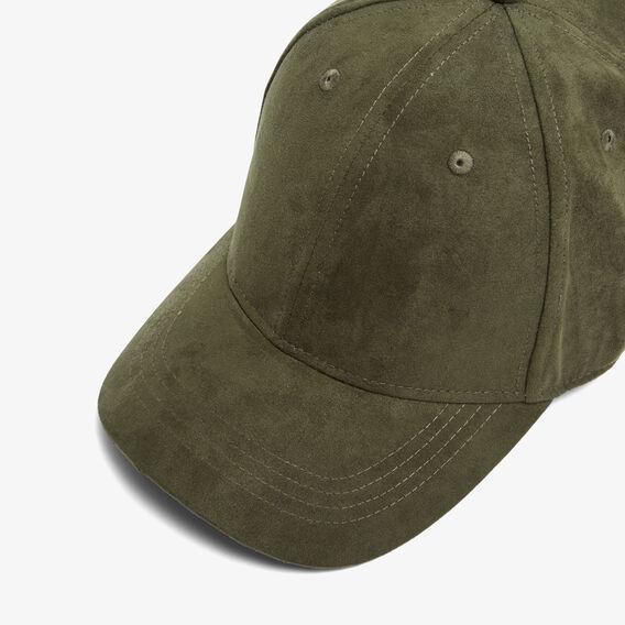 FAUX SUEDE CAP  PINE GREEN  hi-res