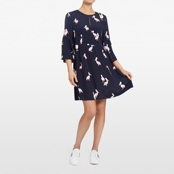 PELICAN PRINTED DRESS  NOCTURNAL/PINK/MULTI  hi-res