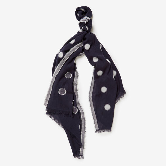 SPOT SCARF  SUMMER WHITE/NAVY  hi-res