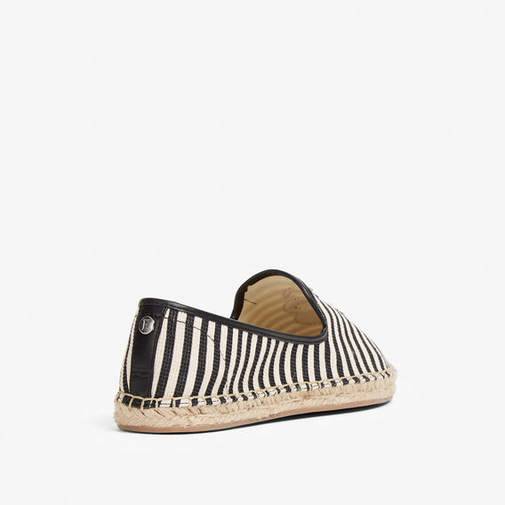 SNAKE ESPADRILLE  BLACK/WHITE MULTI  hi-res