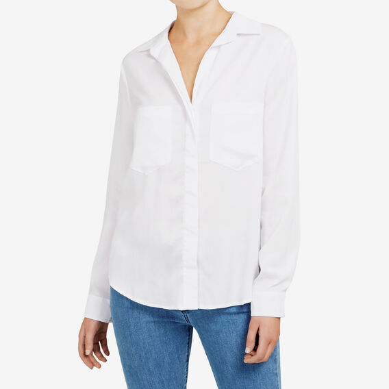ESSENTIAL BUTTON THROUGH SHIRT  SUMMER WHITE  hi-res