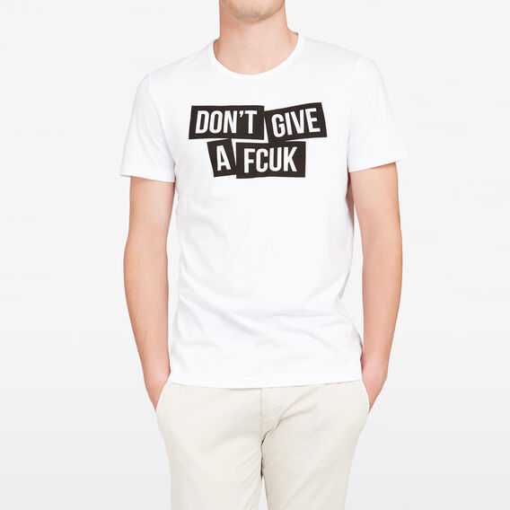 DON?T GIVE A FCUK CREW NECK T-SHIRT  WHITE  hi-res