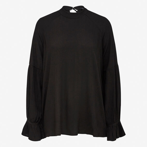 WINTER BABYDOLL SHIRT  BLACK  hi-res