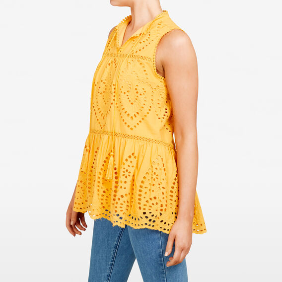 LACE TIERED SHIRT  TUMERIC  hi-res